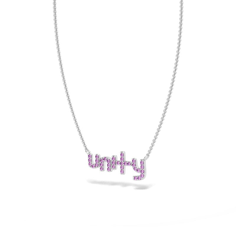 Unity Necklace with Pink Sapphires