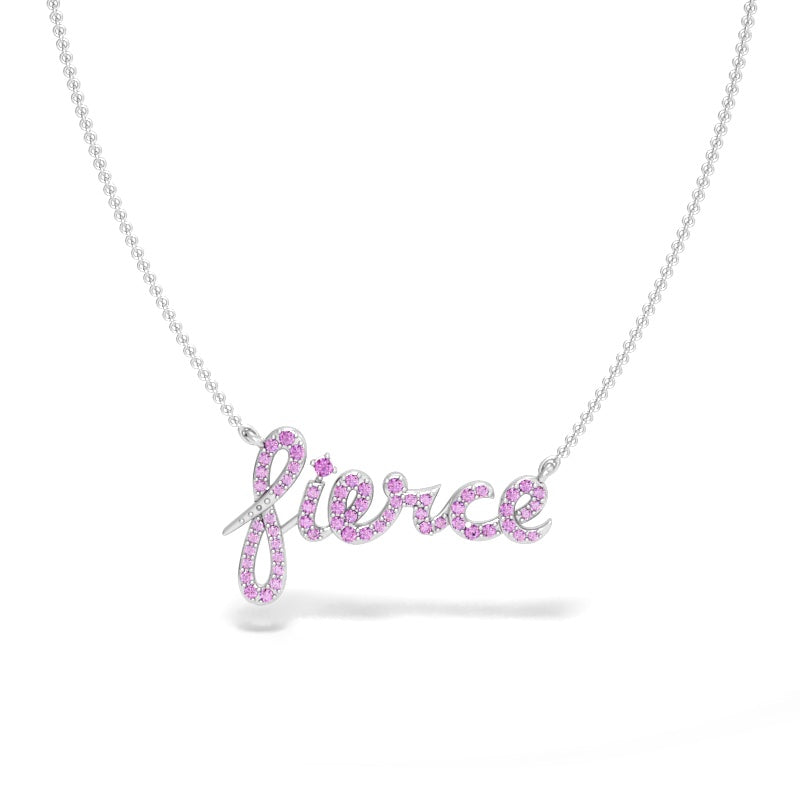 Fierce Necklace with Pink Sapphires