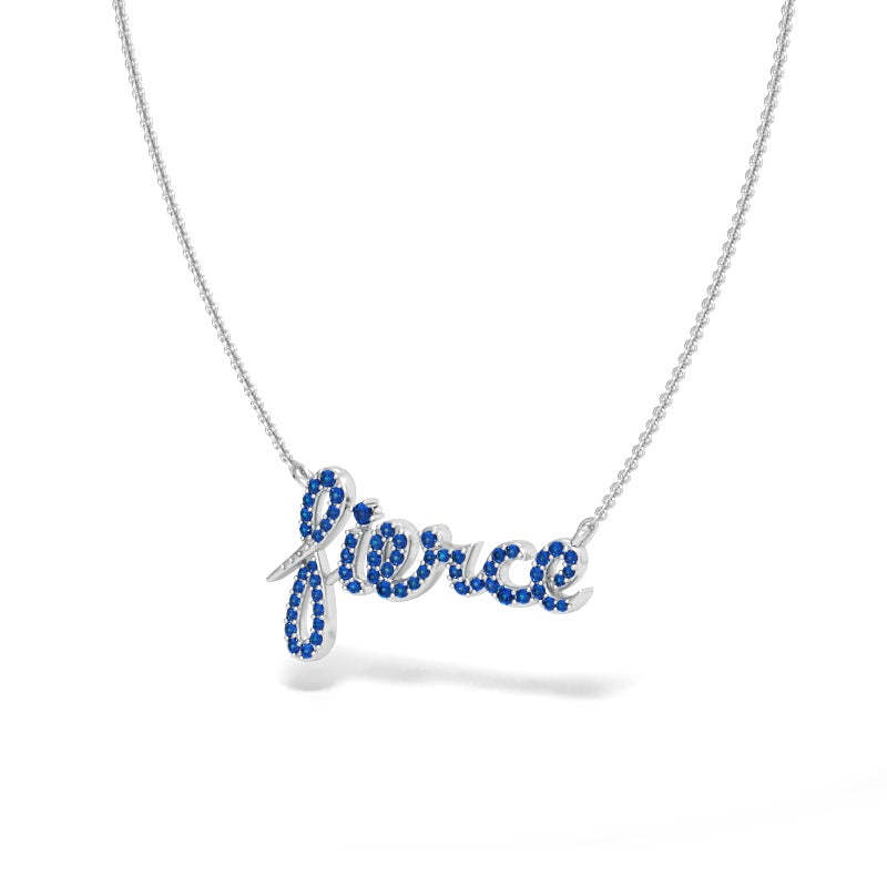 Fierce Necklace with Blue Sapphires