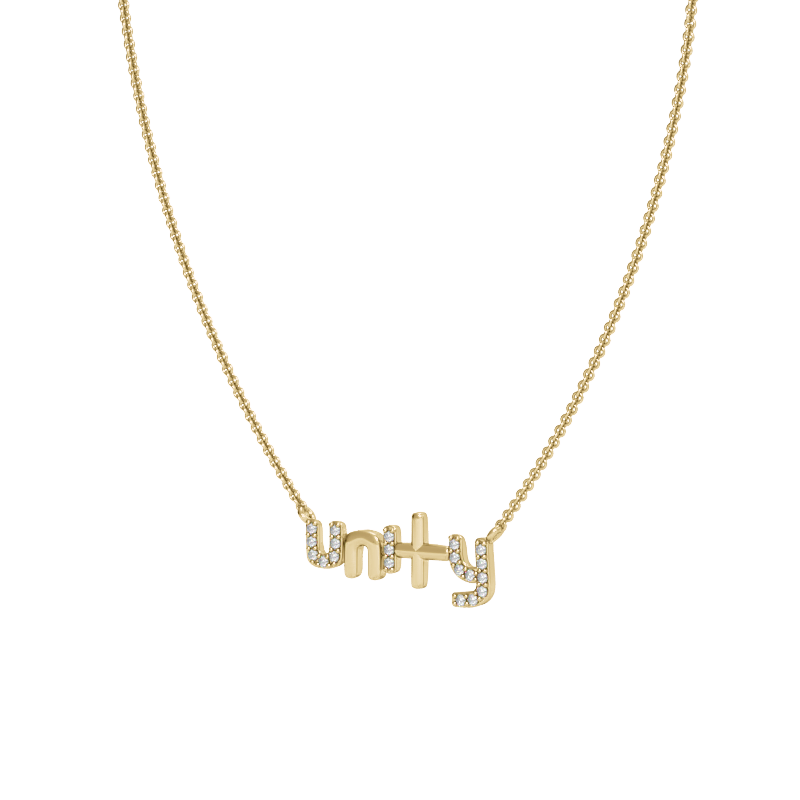 Yellow Gold Unity Necklace with Diamonds