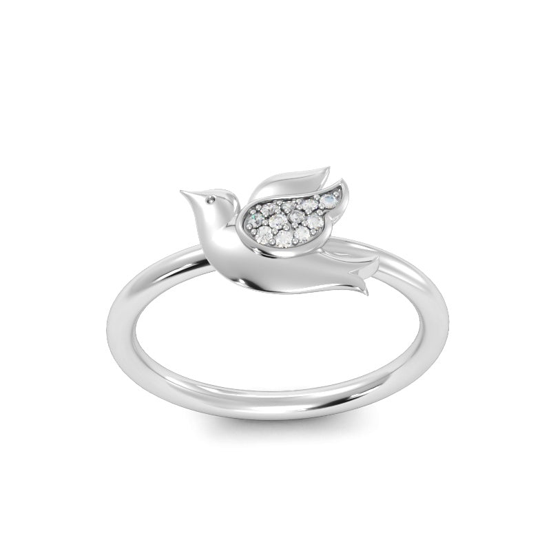 Baby Dove Ring with Diamonds