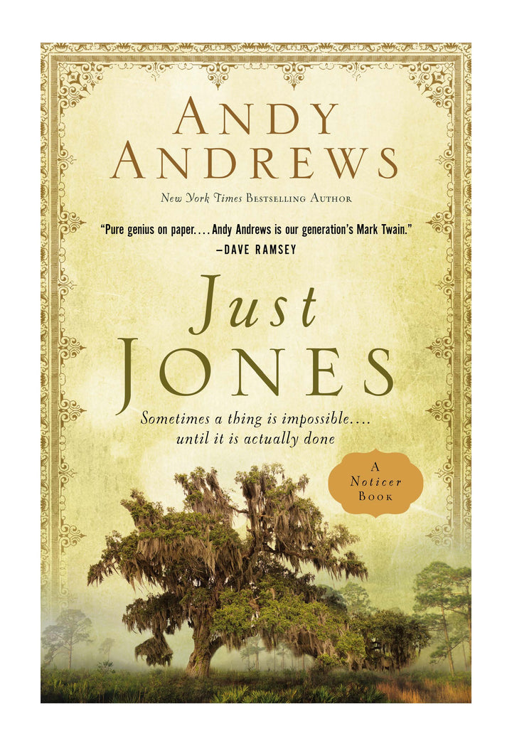 September Book of the Month Preview: Just Jones by Andy Andrews (A Noticer Book)