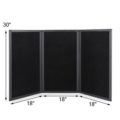 Biombos 135 X 76cm 3 Paneles Folding Stand Sturdy Aluminumm 3 Panel Tablero