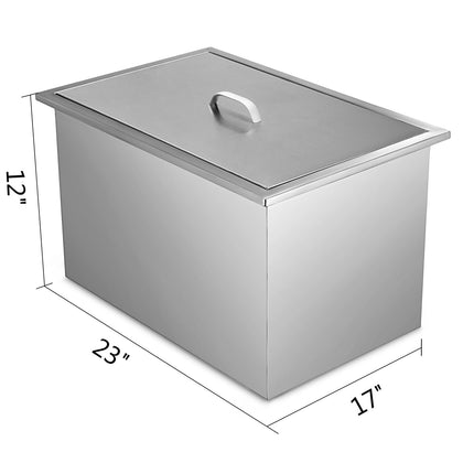 Cubitera De Hielo Ice Chest 58 X 43cm Insulated Wall Vino Refrigerador Enfriador