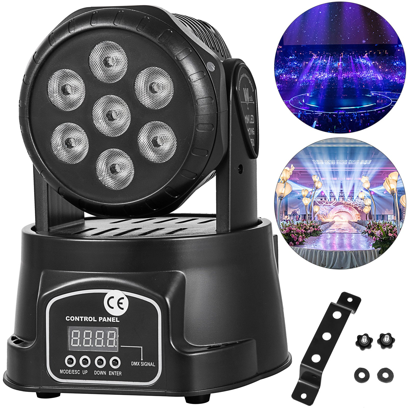 7 X 12w Rgbw Beam Led Moving Head Stage Lighting Dmx512 Dj Disco Club Light