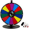 "15"" Rueda Premio Color Prize Wheel Spinnig Game Suerte Fortuna Fiesta"