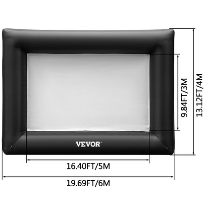 Vevor Pantalla De Proyector Inflable Pantalla Cine Inflable Con Bomba 4 X 6 M