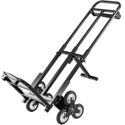 Vevor Carretilla Para Escaleras De 209 Kg, Carrito Manual Plegable Con 6 Ruedas