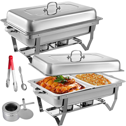 2 Packs Chafing Dishes Set