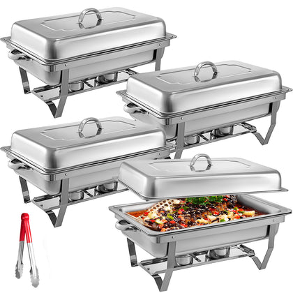 4 PACK CHAFING DISH SETS BUFFET CATERING