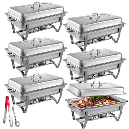 6 Packs Chafing Dishes Set