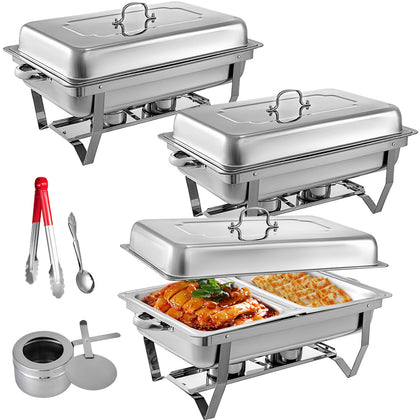 3 Packs Chafing Dishes Set
