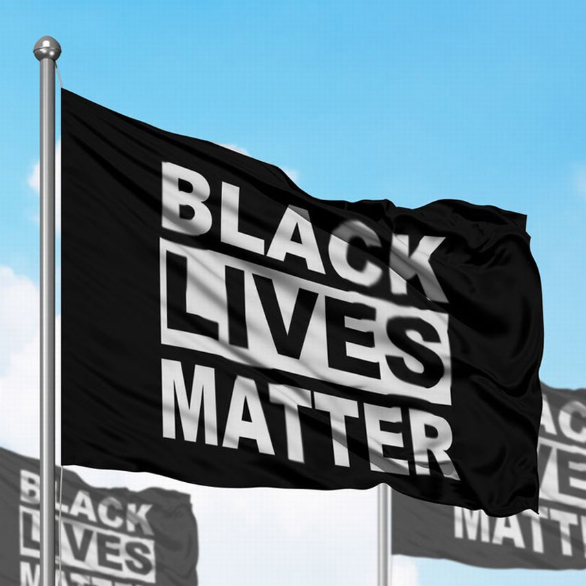 3ft x 5ft Black Lives Matter Flag with Flag Poll Grommets