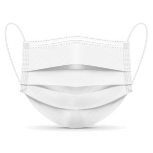3-Ply Disposable Face Masks - Level 1 (White)
