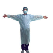 Load image into Gallery viewer, AAMI Level 2 Isolation Gowns - PP 35 GSM Ultrasonic Bonded - Case of 90 Gowns