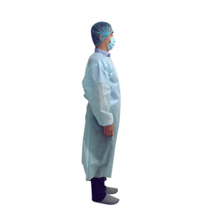 AAMI Level 2 Isolation Gowns - PP 35 GSM Ultrasonic Bonded - Case of 90 Gowns