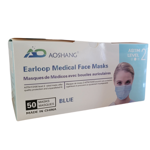 3-Ply Medical Face Masks ASTM Level 2 - Case of 1200 Masks