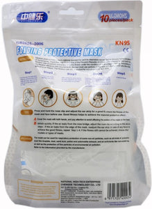 CDC Appendix A Approved KN95 Masks (10-Packs) - Case of 1000 Masks
