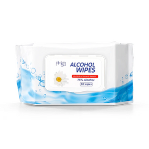PH5B 75% Alcohol Wipes - 50 pack