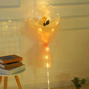LED LUMINOUS BALLOON ROSE BOUQUET- DIY - NOVOTRENDZ