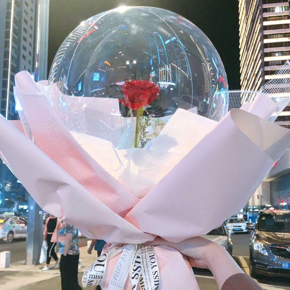LED Luminous Balloon Rose Bouquet - NOVOTRENDZ