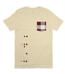 Limited Edition - DOTS Fitted Short Sleeve Statement Tee - Woven