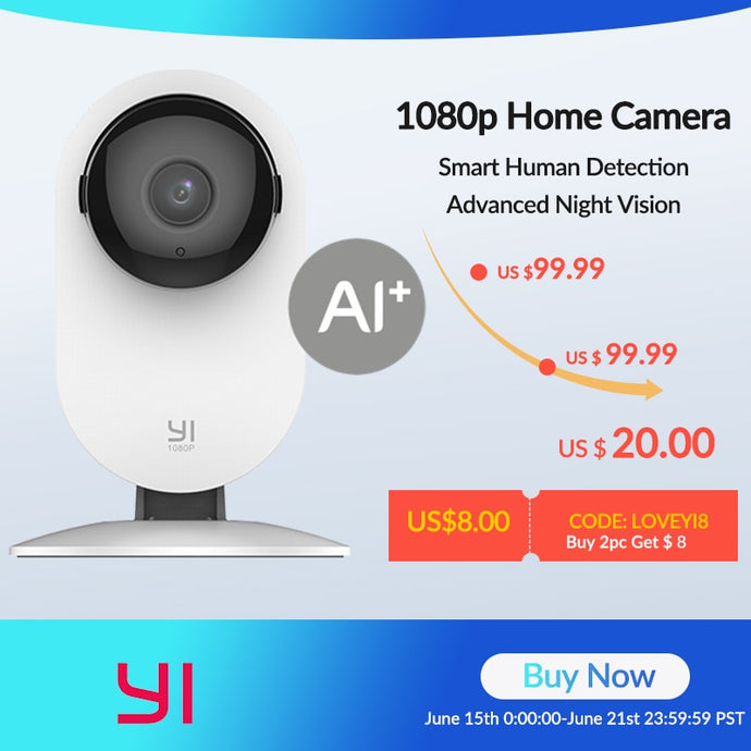 YI Home Camera 1080P Smart Indoor IP Camera - HD Night Vision