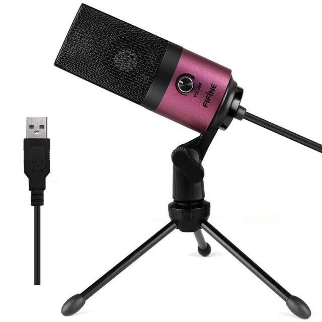 Fifine Metal USB Condenser Recording Microphone
