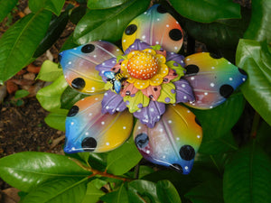 Large multi colored flower