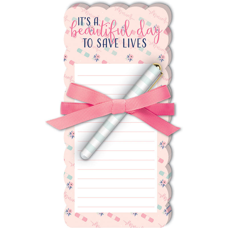Save Lives Notepad with Pen