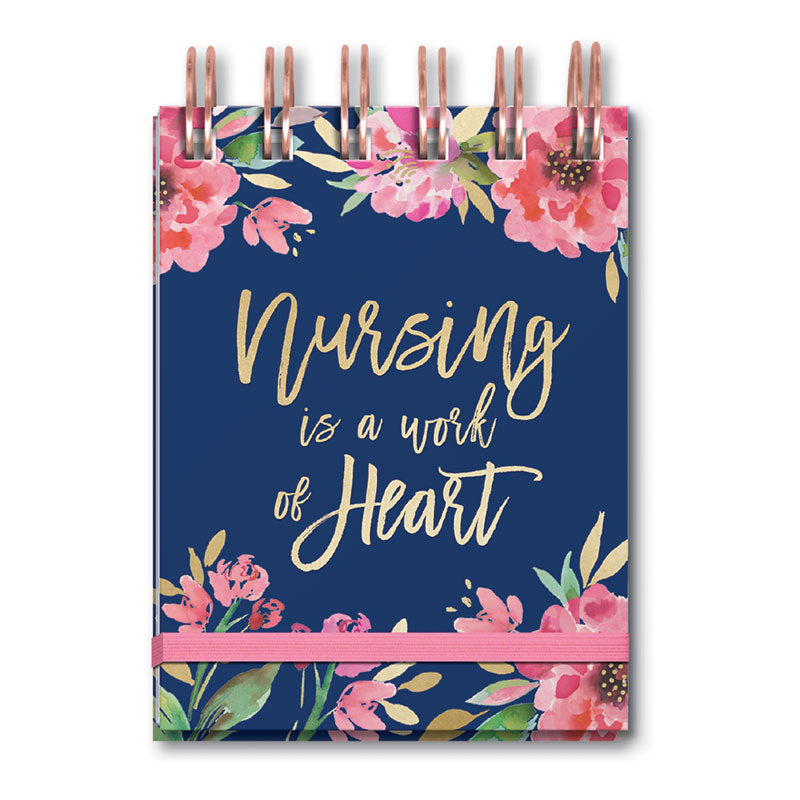 Nursing is a Work of Heart Mini Spiral Notebook