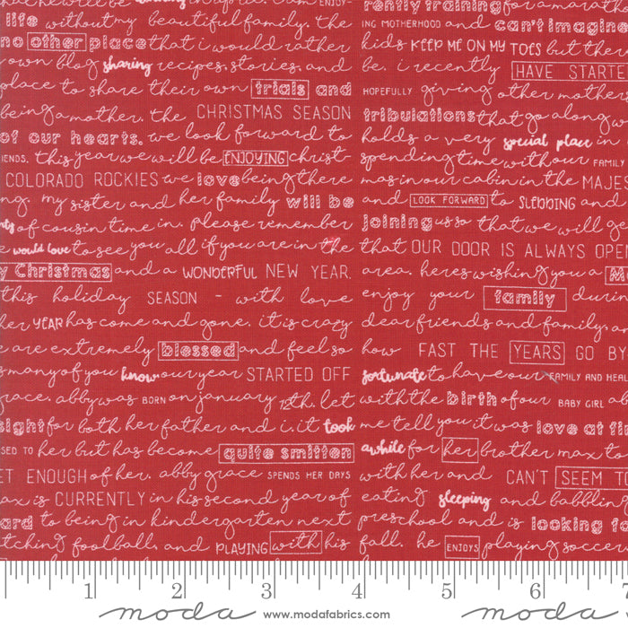Red Christmas Letters - The Christmas Card - Sweetwater