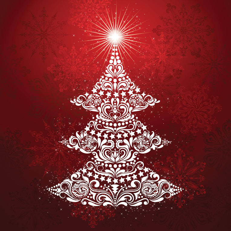Gradients Holiday Digital Panel - Ruby Red Tree