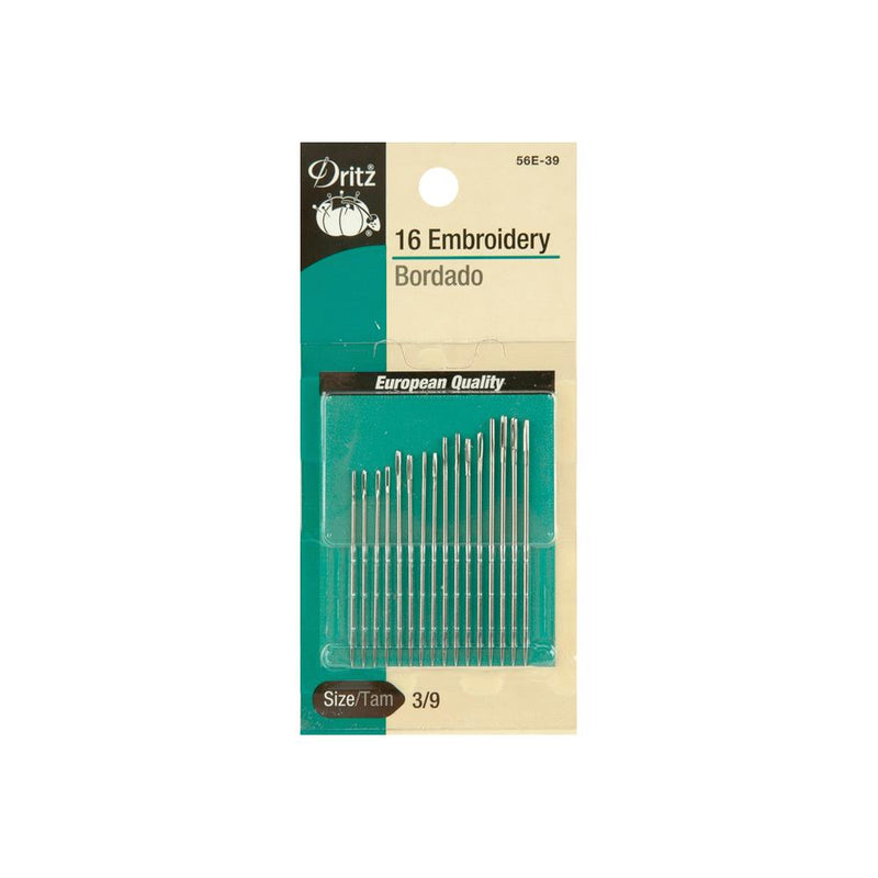 Dritz Embroidery Hand Needles - Various Sizes Available