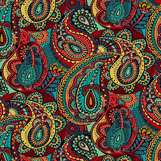 Multi Paisley from Folk Friends by Makower