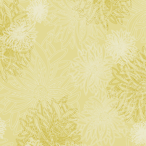 Floral Elements Hay - Art Gallery Fabrics