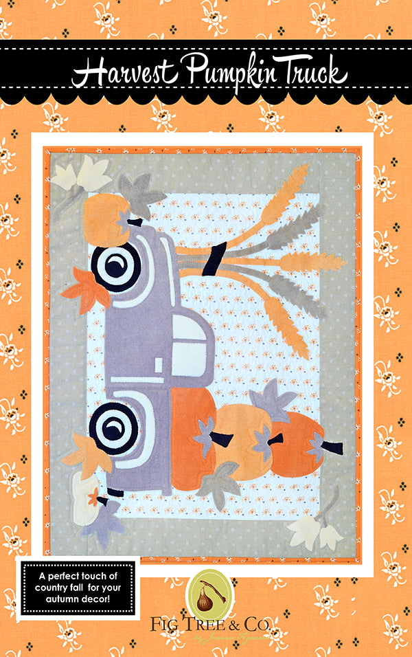 Harvest Pumpkin Truck Pattern - Fig Tree & Co