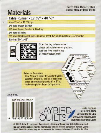Tasty Table Runner Pattern - Jaybird Quilts