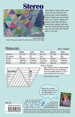 Stereo Quilt Pattern - Jaybird Quilts