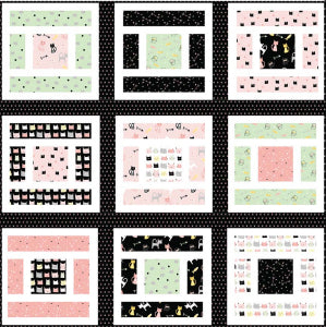 Lillian & Oliver - Baby Quilt, Burp Cloth, and Bib Set Pattern