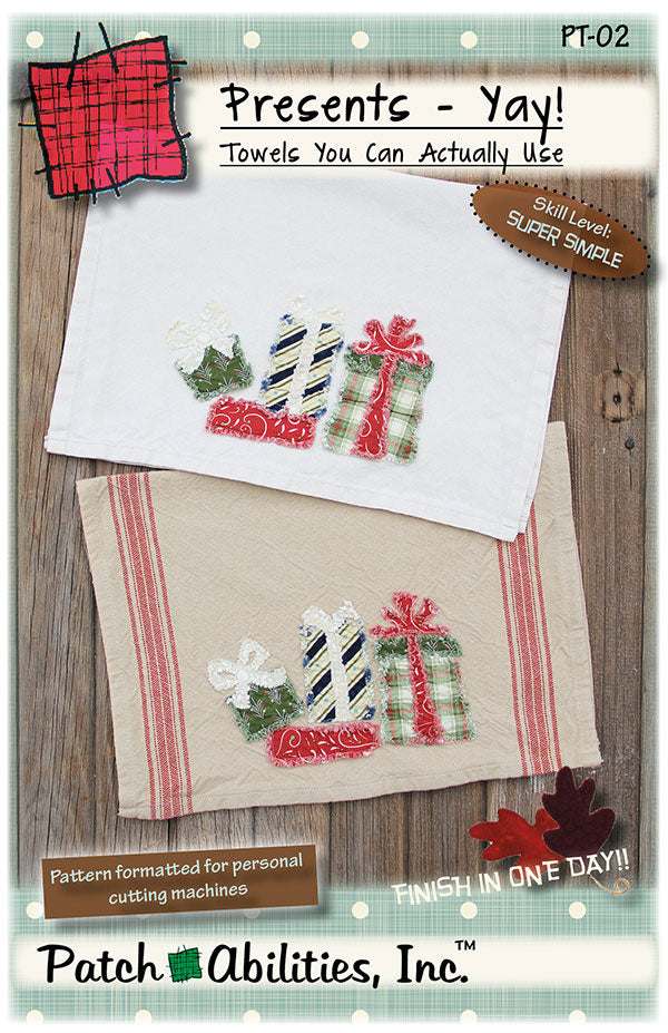Presents Yay Tea Towel Pattern - Patch Abilities