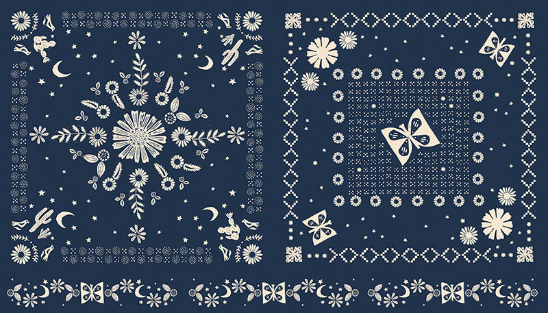 Golden Hour Navy Bandana Panel - Alexia Marcelle Abegg - Ruby Star Society
