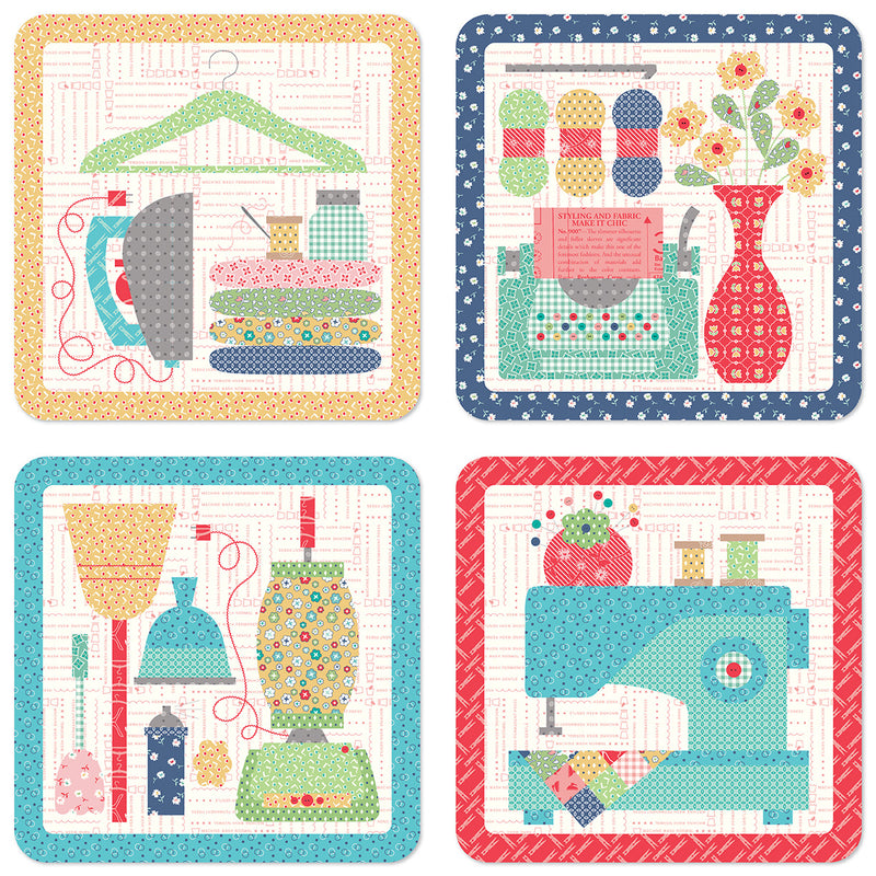 My Happy Place Coasters - Lori Holt - Bee in My Bonnet