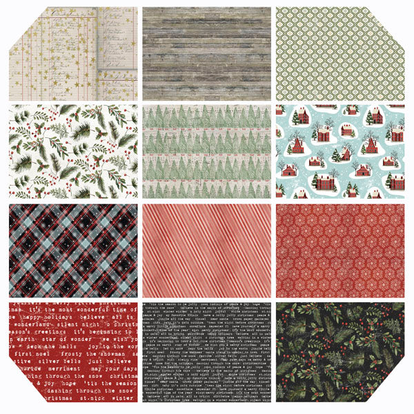 Yuletide Fat Quarter Bundle - Tim Holtz