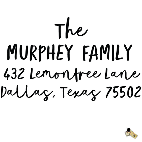 Personalized Custom Return Address Rubber Stamp or Self Inking Stamp Bold Script Last Name Handwriting