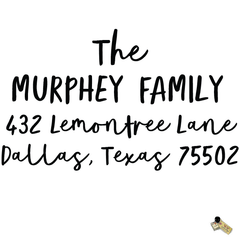 Personalized Custom Return Address Rubber Stamp or Self Inking Stamp Bold Script Last Name Handwriting - Britt Lauren Stamps