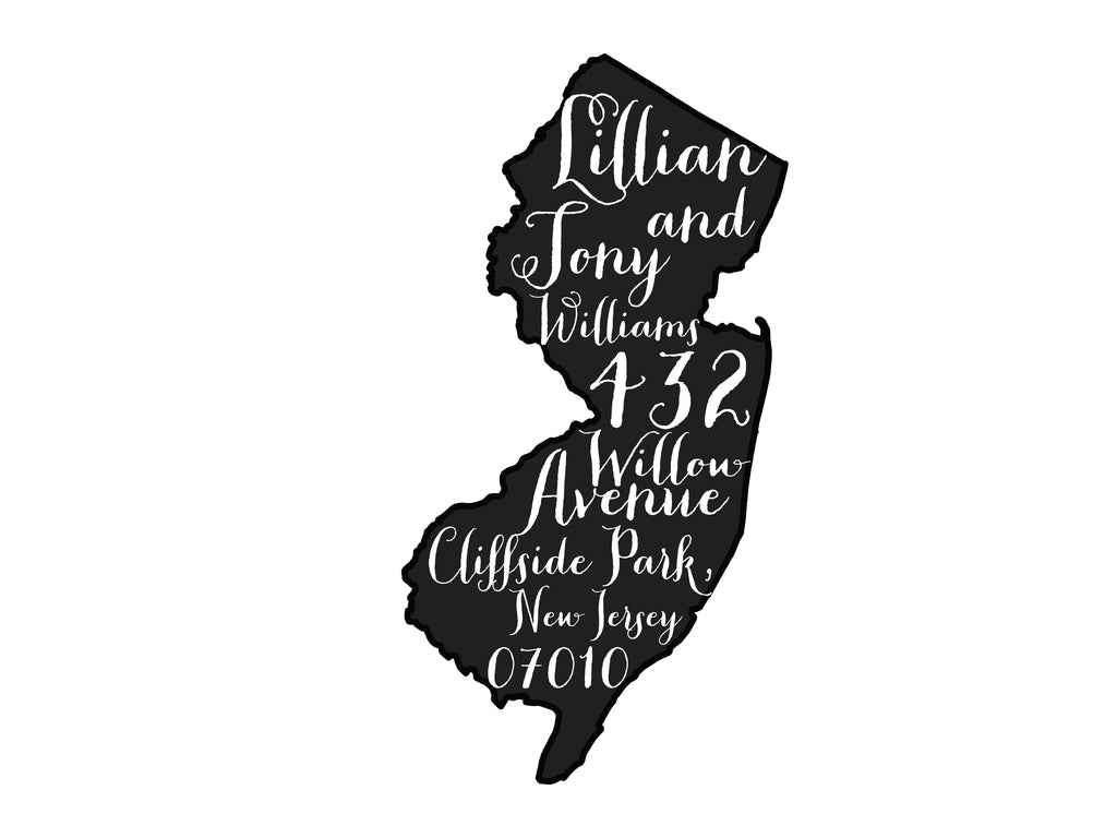 New Jersey Script Address Stamp Jersey Strong - Return Address Rubber Stamp - Britt Lauren Stamps