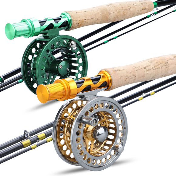 Fly Fishing Rod Combo Carbon Fiber Ultralight Weight