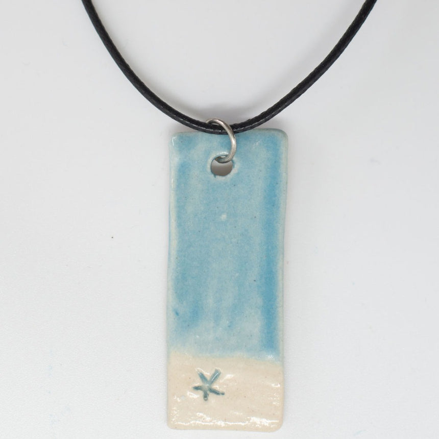 Circle Dragonfly In The Sky Pottery Pendant