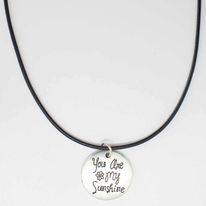 You Are My Sunshine Silver Pendant